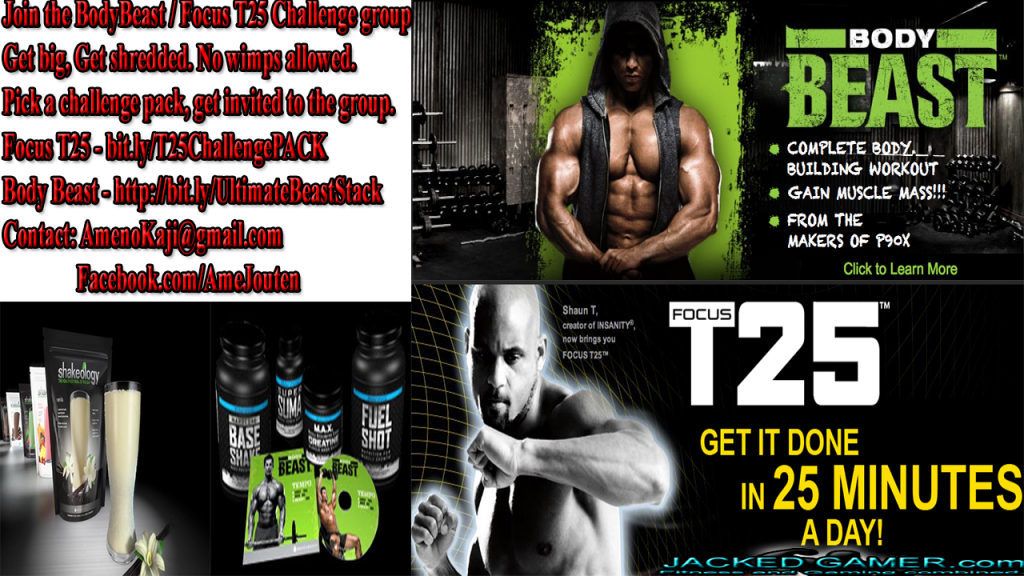 Focus T25 and Body Beast challenge packs