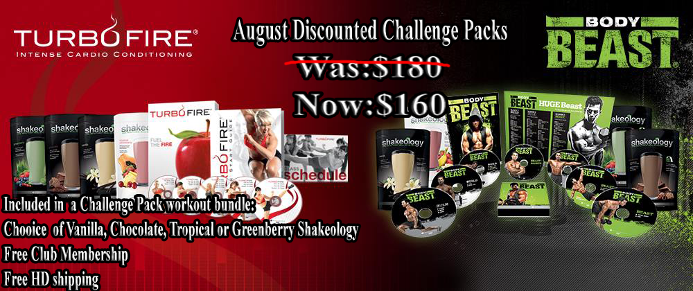 Weight Loss Challenge Packs on sale for august