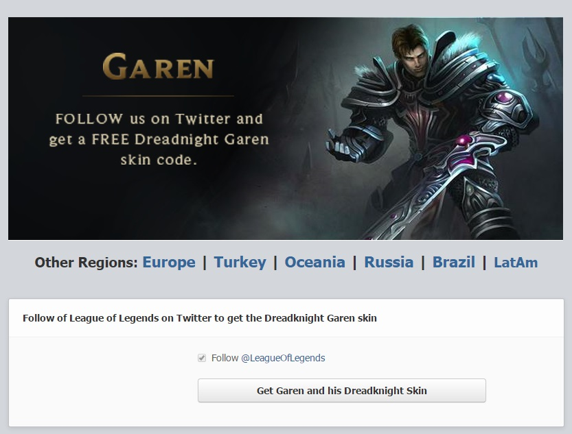 Free League of Legends skins Dreadknight Garen(3)