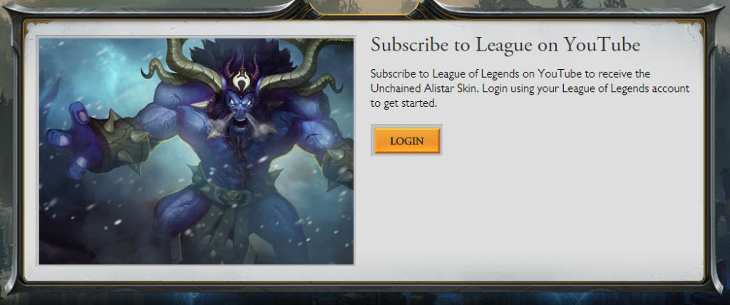 free league of legends skin alistar