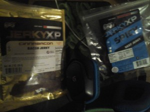 JerkyXP Cinnabacon and Spicy Beef Jerky